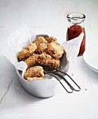 American chicken nuggets with Oriental ketchup