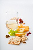 Cheese, crackers and wine
