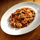 Polpi e Fagioli (octopus with white beans, tomatoes and onions, Italy)
