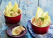 Salmon mousse with chicory and dill