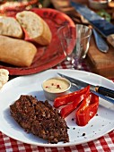 Grilled beef steak with pink pepper