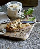 Homemade rillette