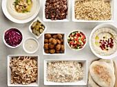 Pita Pouch: Auswahl an Zutaten aus der orientalischen Küche