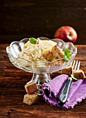 Celeriac and apple salad with cheese