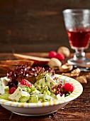 Fruity Camembert salad