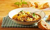 Hearty sauerkraut soup