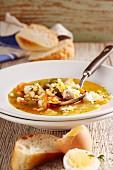 Sopa a la veracruzana (Mexican fish soup)