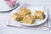 Blondies with macadamia nuts