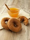 Pumpkin doughnuts and apple wine