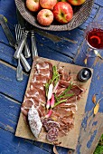 A charcuterie platter for a winter picnic in South Africa
