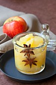 Apple compote with star anise