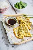 Eier-Dumplings mit Sojasauce (China)