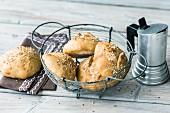 Golden sour dough rolls for Sunday breakfast