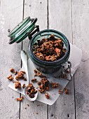Quinoa and buckwheat granola with nuts and seeds