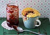 A Lady Marmalade mug cake