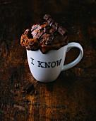 A chocolate mug cake