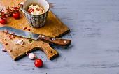 Zutaten für pikante Mug Cakes