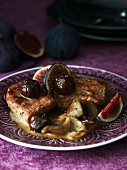 Chicken breast with marsala and figs