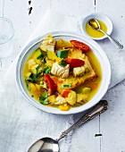 Glutenfreie Fischsuppe aus der Provence mit Brot & Safran