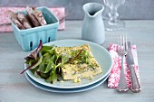 Quick mountain cheese frittata with herbs