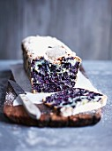 Blueberry bread, sliced