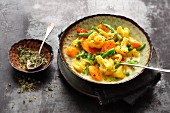 Spicy masala vegetables with dried fenugreek leaves
