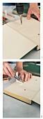 Wandregal aus einem Buch selber bauen