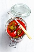 Pickled peppers and jalapeños