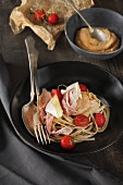 Tagliatelle with prosciutto and Camembert