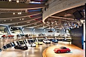 Porsche: models in the customer centre, Leipzig, Germany