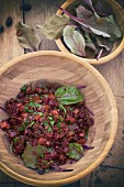 Quinoa salad with beetroot