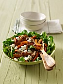Lambs lettuce with roasted pumpkin and feta cheese