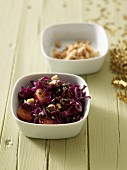 Red cabbage with oranges and walnuts