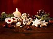 Christmas biscuits and decorations