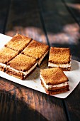 Sweet biscuit sandwiches