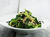 Kale salad with seeds