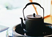 A brazier and a kettle
