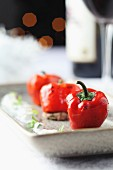 Oven-grilled mini peppers