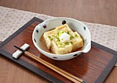 Fried tofu with spring onions (Japan)