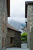 Mountain village Taüll in Aigüestortes national park in the Pyrenees, Catalonia, Spain