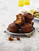 Muffins with hazelnuts