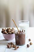 Chocolate cream and hazelnuts