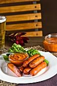Smoked sausage with homemade tomato sauce