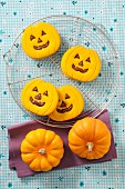 Halloween biscuits and mini pumpkins