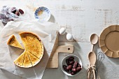 Crème brûlée tart and dates