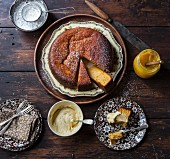 Clementine cake with citrus cream