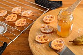 Pear jam tartlets