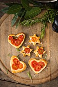 Tomato hearts and stars