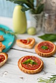 Spicy tomato tartlets