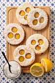 Lemon rich tea biscuit shortbreads